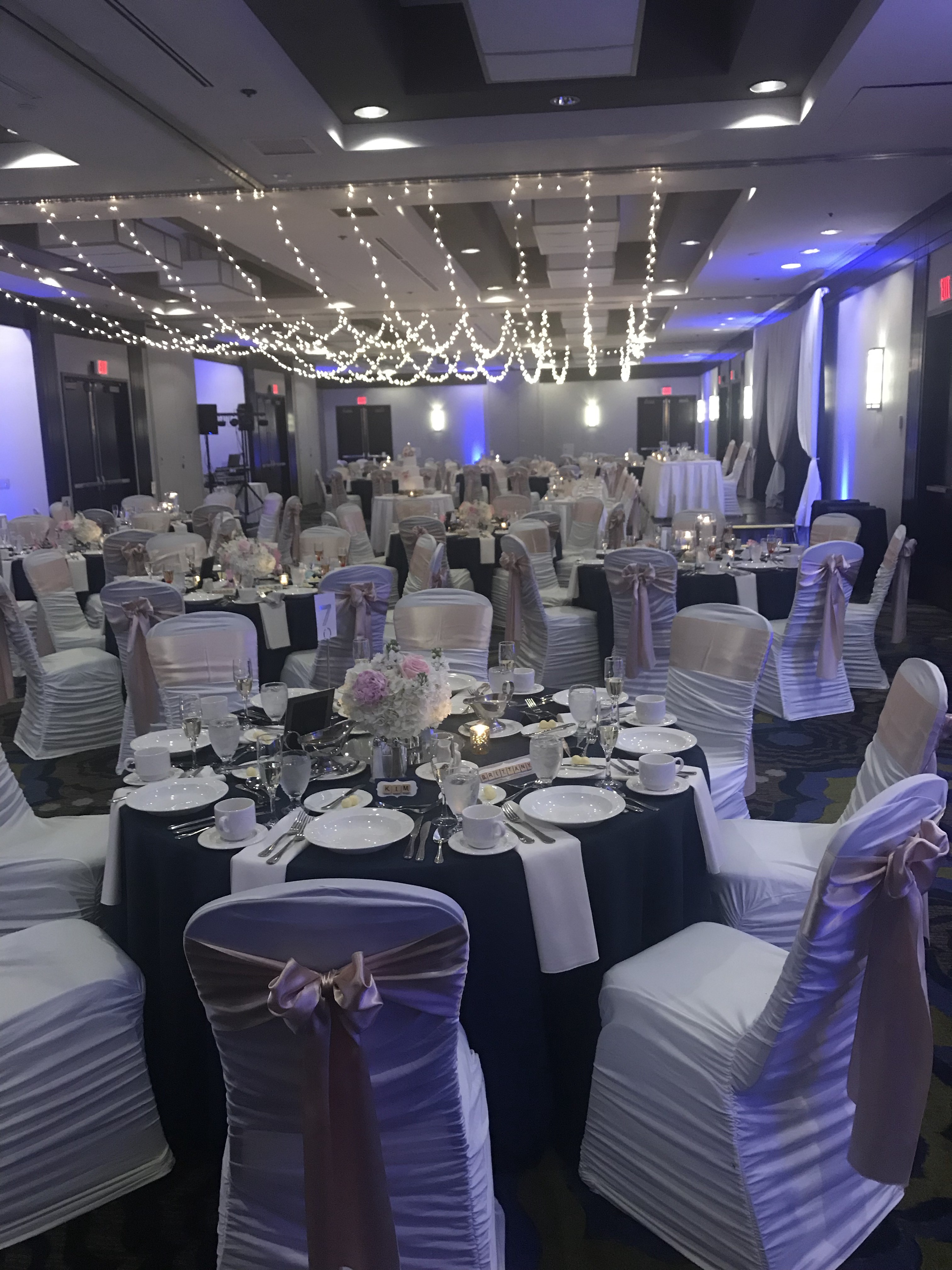 Wedding Venue Event Space with Stringed Lights